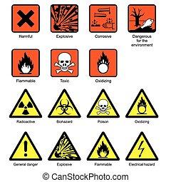 laboratório, ciência, segurança, sinais