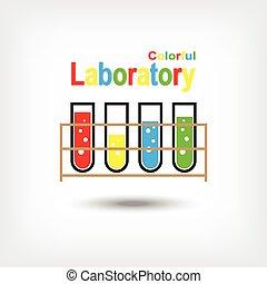 laboratório, coloridos