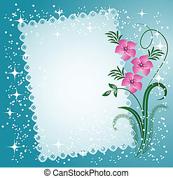 lacy, flores, bordas, guardanapo