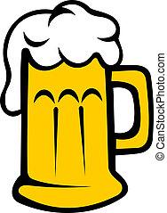 lager, tankard, cerveja, ou, espumoso