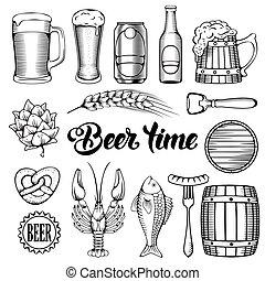 lanche, cerveja