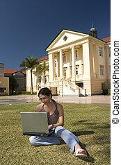 laptop, estudante
