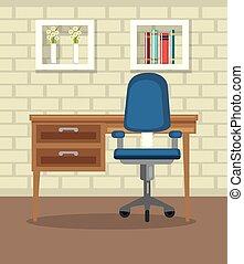 lar, lugar, escritório, casa