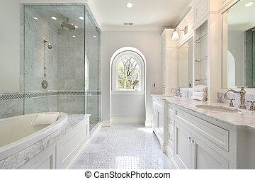 lar, mestre, luxo, banho
