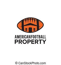 lar, modelo, futebol, logotipo, desenho, americano