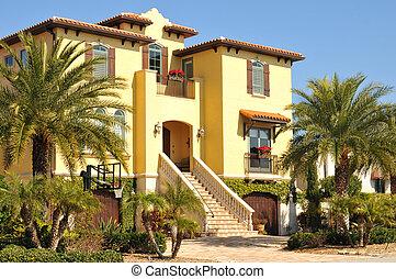 lar, três, espanhol, história, bonito
