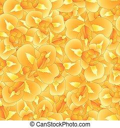 laranja, íris, flor, seamless, fundo