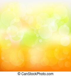 laranja, abstratos, vetorial, fundo, amarela