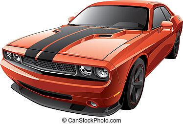 laranja, car, músculo