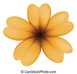 laranja, five-petal, flor