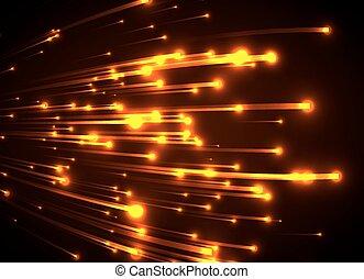 laranja, rays., luz néon