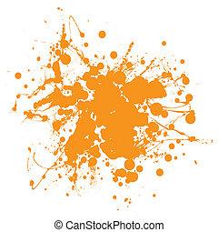 laranja, splat, tinta