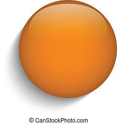 laranja, vidro, botão, círculo, fundo