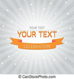 laranja, vindima, cartão, celebração