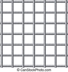 lattice, ajustamento, rebars