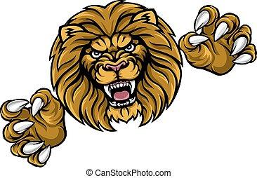 leão, esportes, animal, mascote