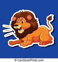 leão, macho, personagem