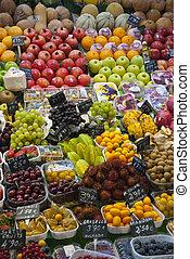 legumes, varioud, mercado, frutas