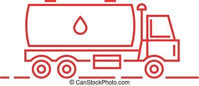 leite, linha magra, vermelho, petroleiro