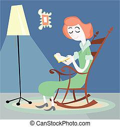 leitura mulher, casa