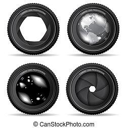 lente, câmera, vetorial, ilustração