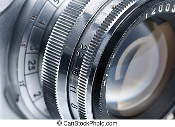 lente, foto, close-up.
