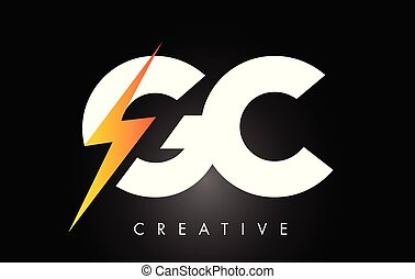 letra, parafuso, elétrico, desenho, logotipo, bolt., mais claro, gc, trovão
