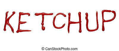 letra, tempero, palavra, ketchup, alimento, condimento