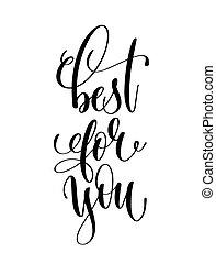 lettering, inscrição, -, mão, pretas, tu, branca, melhor
