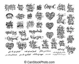 lettering, jogo, positivo, pretas, grande, branca, manuscrito