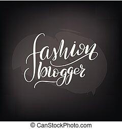 lettering, moda, blogger