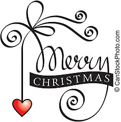 lettering, natal, feliz, mão