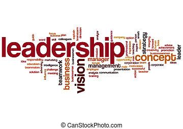 liderança, palavra, nuvem