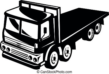 light-weight-flatbed-truck-high-angle-bw-cut