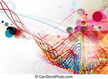 linha, abstratos, onda