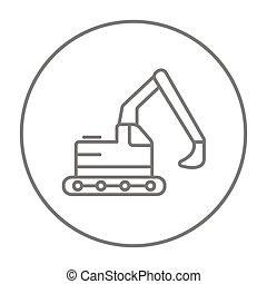 linha, icon., escavador