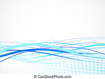 linhas, fundo, azul