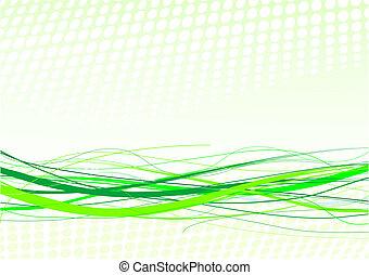 linhas, fundo, verde