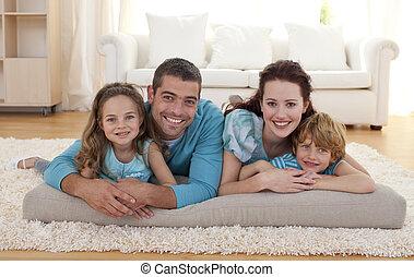 living-room, família, chão