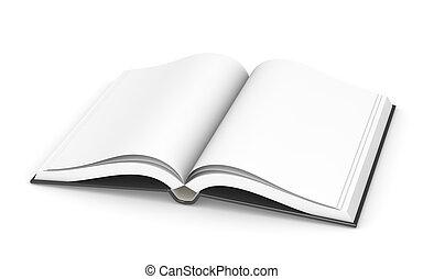 livro, abertos, sparse.