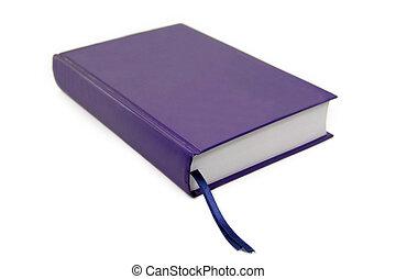 livro azul, isolado