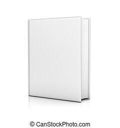 livro, coberturas, em branco, branca