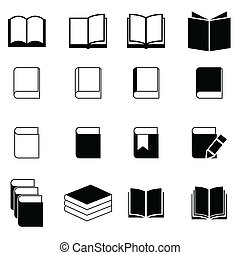 livro, jogo, ícone