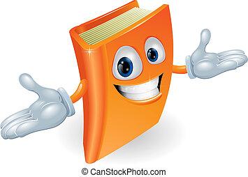 livro, personagem, caricatura, mascote