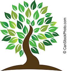 logotipo, árvore