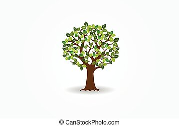 logotipo, árvore, vida, vetorial, símbolo