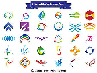 logotipo, 30, amostras
