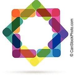 logotipo, abstratos, cartão negócio
