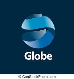 logotipo, abstratos, globo