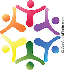 logotipo, apoio, equipe